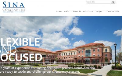 Sina Companies Healthcare Web Design