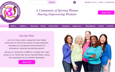 Women's Education Group Website Design